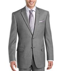 joseph abboud gray sharkskin modern fit suit separate coat