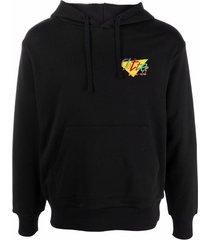 clottee beach club logo-embroidered hoodie