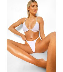 essentials tanga string bikinibroekje, wit