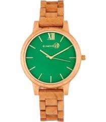 earth wood pike wood bracelet watch khaki-tan 45mm