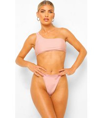 essentials string bikini met brede taille band, poederroze