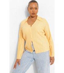 plus plisse blouse met wijde mouwen, peach