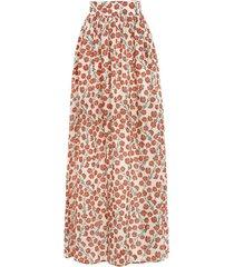 tropic bermelo-print linen maxi skirt