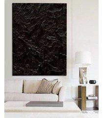 black ocean - dystyngowany obraz z rzeźbieniami