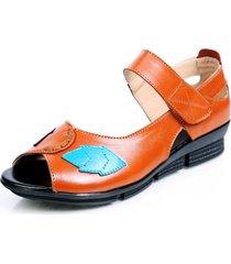 sandali peep toe in vera pelle con gancio in pelle da donna
