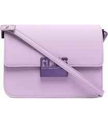 gcds logo buckle shoulder bag - purple