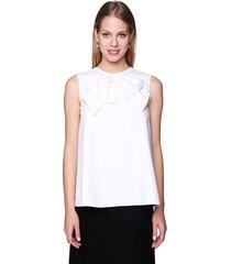 bluzka klasyczna z żabotem biała