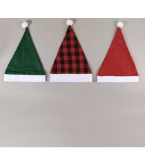 3pcs plaid pattern christmas hats set