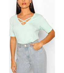 cross strap oversize top, mint