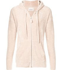 laneus chenille hooded sweatshirt - neutrals