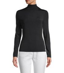 st. john women's turtleneck sweater - black - size xs