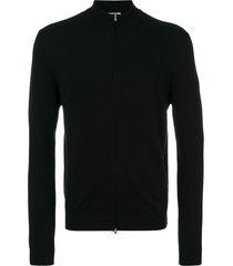 fashion clinic timeless zip cardigan - black