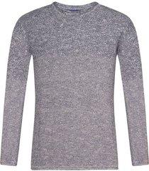 suéter cerrado cuello redondo bicolor para hombre freedom 00823