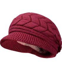 donna cappello a cloche in cotone lino pesante foderato di peluche morbida