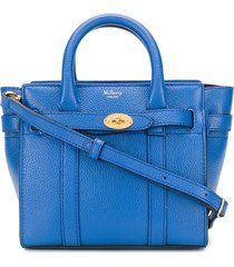 mulberry bayswater micro tote bag - blue
