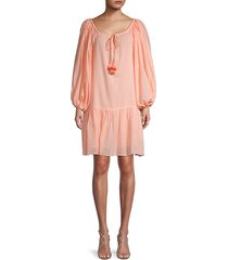 pea cotton short cover-up dress