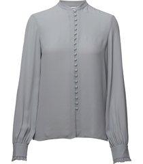 sheer button blouse blouse lange mouwen blauw filippa k