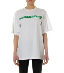 dsquared2 white cotton frontal print t-shirt