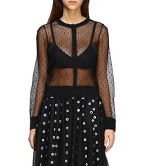 red valentino sweater red valentino cardigan in point desprit tulle