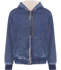 jaqueta feminina amy - azul