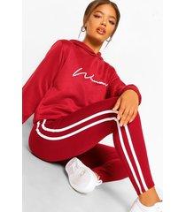 woman hoodie en leggings trainingspak, berry