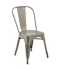 conjunto 02 cadeiras iron aço rivatti cinza
