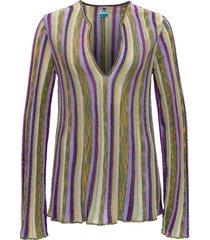striped blouse in lurex knit m missoni