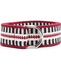 isabel marant striped-knit belt - red