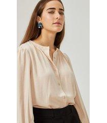 amaro feminino camisa essential detalhes franzidos, bege
