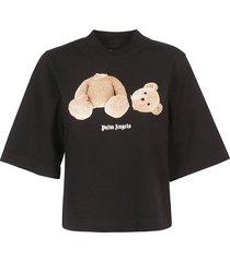 palm angels cropped bear t-shirt