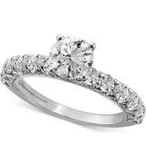 bliss monique lhuillier diamond engagement ring (2 ct. t.w.) in 14k white gold