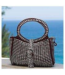recycled soda pop-top handle handbag, 'powerful beauty' (brazil)