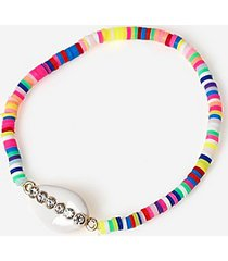 *bead and shell bracelet - multi