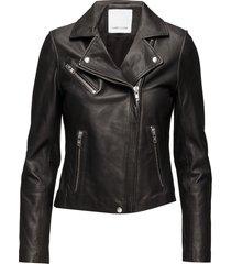 duris jacket 7248 läderjacka skinnjacka svart samsøe samsøe