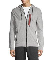 fleece logo hoodie