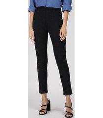calça legging feminina cintura média em jacquard preta