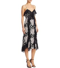 cinq à sept women's joelle floral silk dress - black multi - size 2