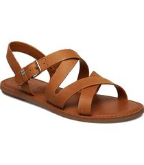 tan leather shoes summer shoes flat sandals brun toms