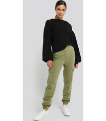 na-kd washed patch pocket joggers - green