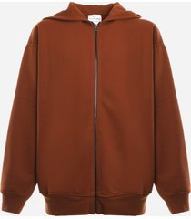 acne studios oversized hooded sweatshirt in cotton blend
