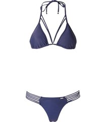 amir slama triangle bikini set - blue