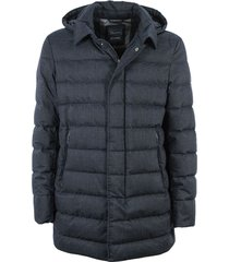 laminaire wool hooded down jacket