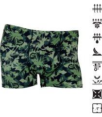 cueca under up boxer tech confort camuflada - verde militar - masculino - poliamida - dafiti