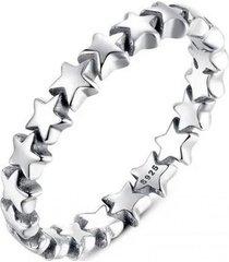 anillo estrellas casual plata arany joyas