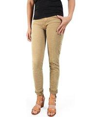pantalón calistoga cinco bolsillos color siete para mujer - beige
