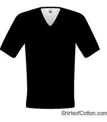 shirtsofcotton heren t-shirt zwart diepe v-hals 2-pack