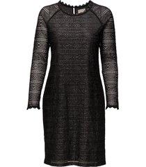 allelu dress knälång klänning svart cream