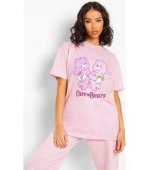gelicenseerd oversized care bears t-shirt, purple