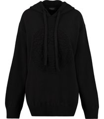 versace knitted hoodie
