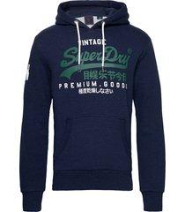 vl ns hood hoodie trui blauw superdry
